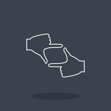 Hands frame icon