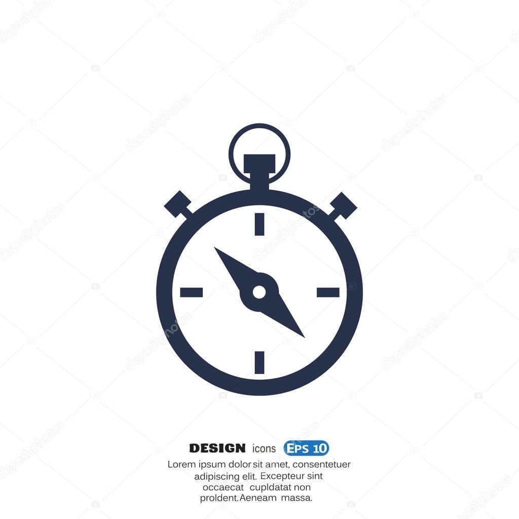 67f256ec71c Ícone de cronômetro simples web — Vetores de Stock © LovArt  74870015