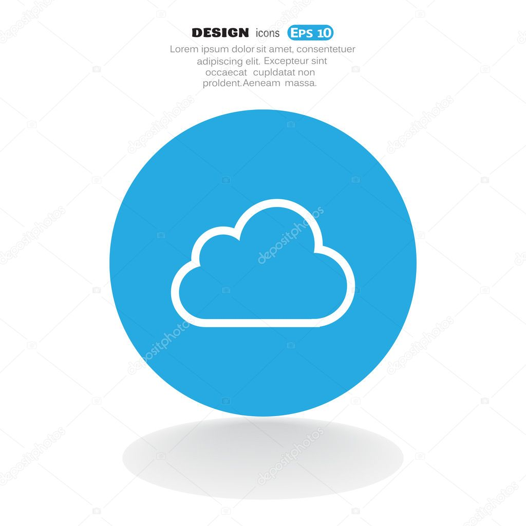 Cloud web icon