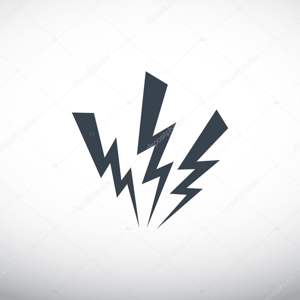 Web icon, lightning