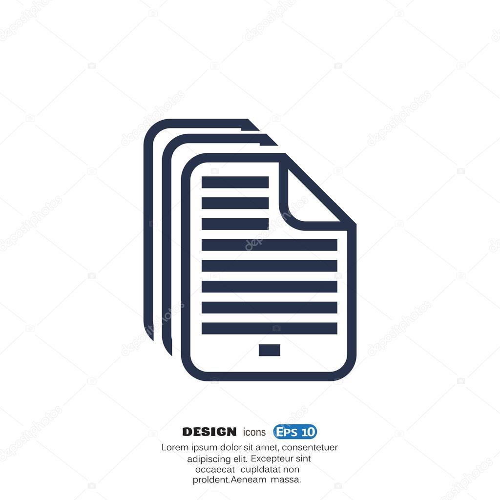 파일 또는 논문 웹 아이콘 — 스톡 벡터 © LovArt #74881259
