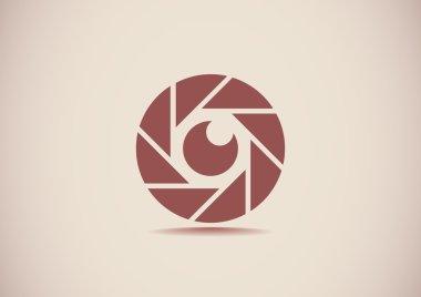 Lens eye web icon