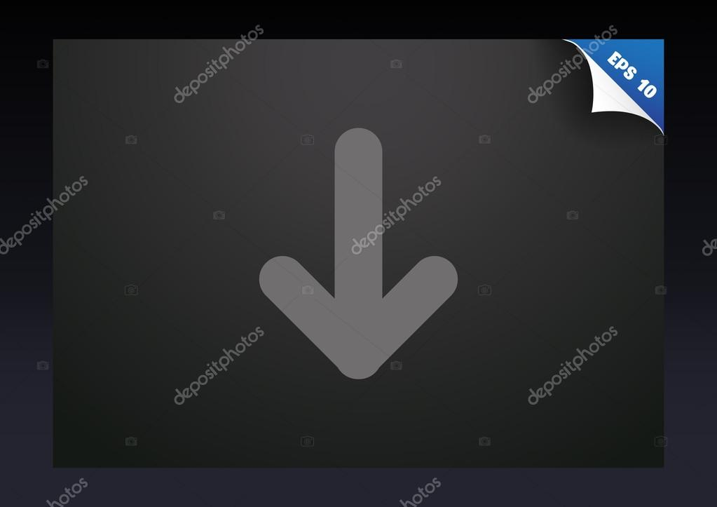 Arrow Pointing Down Icon Stock Vector Lovart 75006783