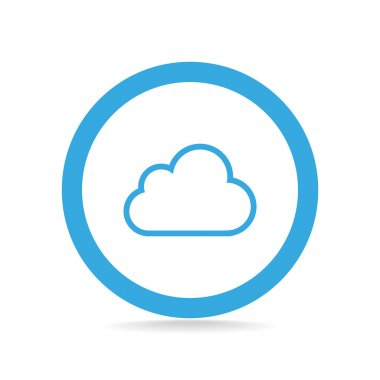 Simple outline cloud web icon