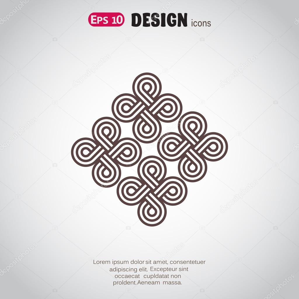 Pattern decor, web icon