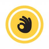 Fotografia OK gesticolare icona web