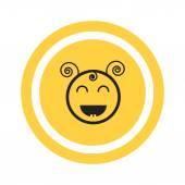šťastná holčička, web ikony
