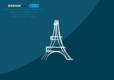 Eiffel tower sketch icon