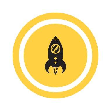 Simple rocket web icon
