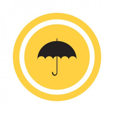 Simple outline umbrella icon, vector illustration