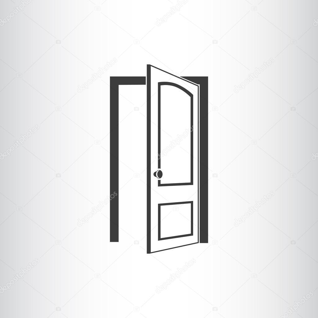 offene t r symbol stockvektor lovart 75613527. Black Bedroom Furniture Sets. Home Design Ideas