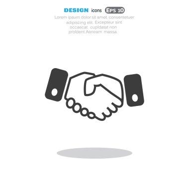 Handshake web icon, friendship concept