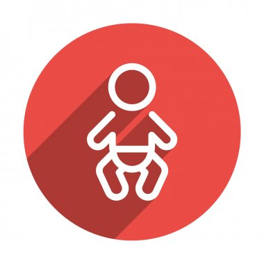 Infant baby symbol in simple lines