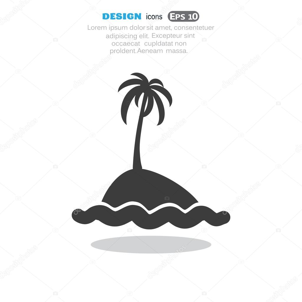 Exotic island ,web icon