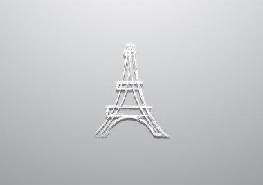 Eiffel tower web icon