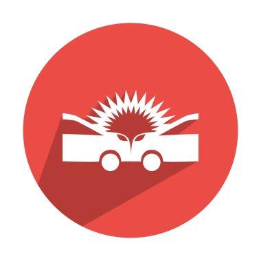 Auto accident web icon