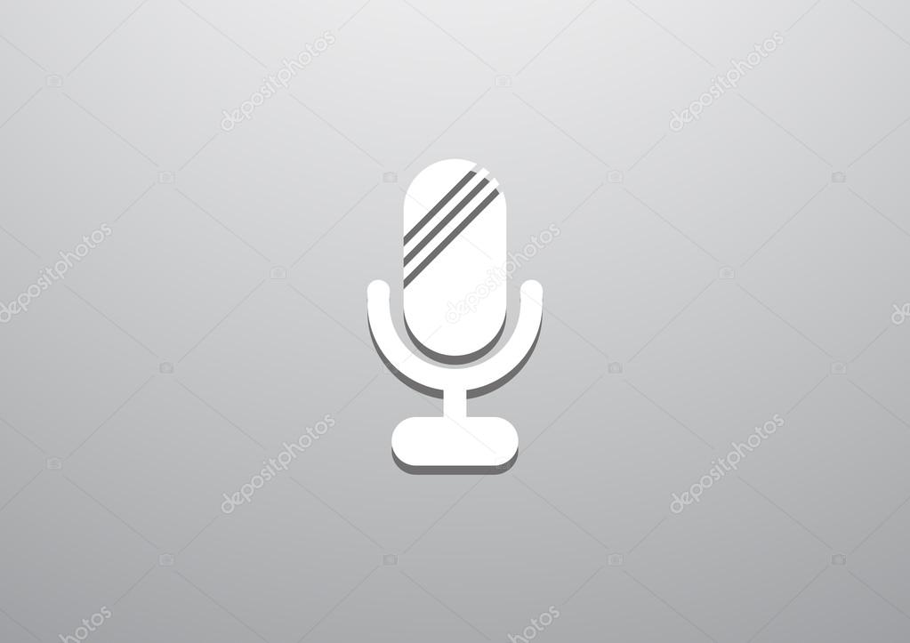 Einfache Web-Mikrofonsymbol — Stockvektor © LovArt #76976433