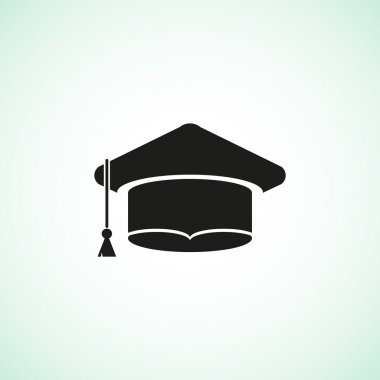 Academic hat simple web icon