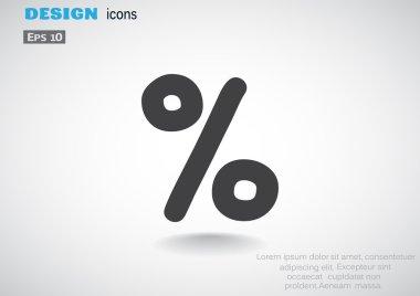 Simple percent symbol icon