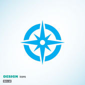 Fotografie Compass web icon with wind rose