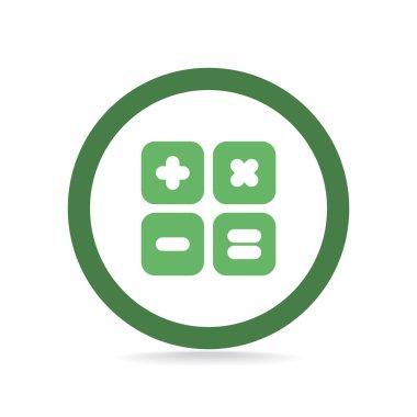 Calculator symbol web icon