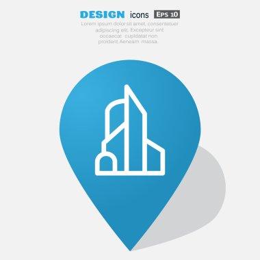 Big city simple web icon