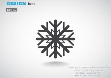 Snowflake simple web icon