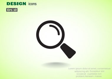 Simple magnifying glass icon