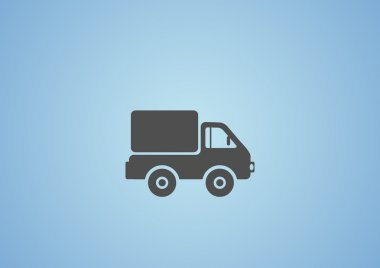Simple truck web icon