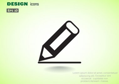 Drawing pencil simple web icon