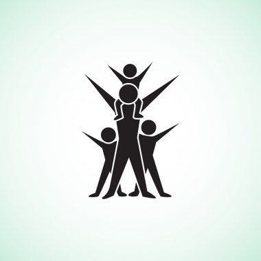 Happy family concept web icon