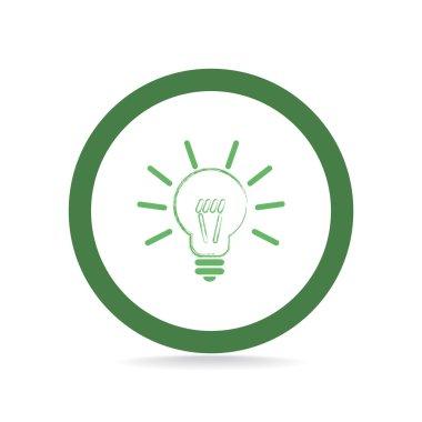 Light bulb web icon