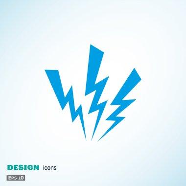 Three lightnings web icon