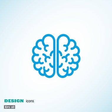 Human brain web icon