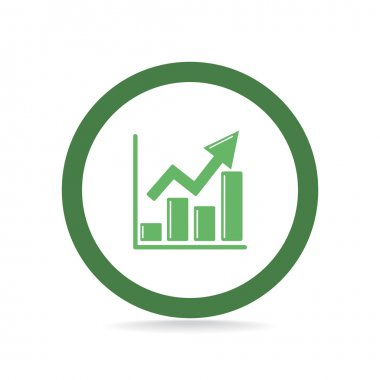 Rising graph simple web icon