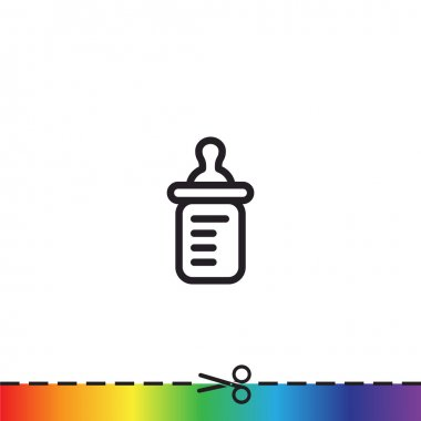 Simple baby bottle icon