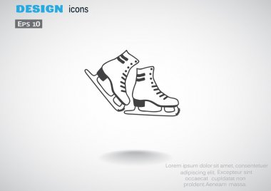 Skate shoes web icon
