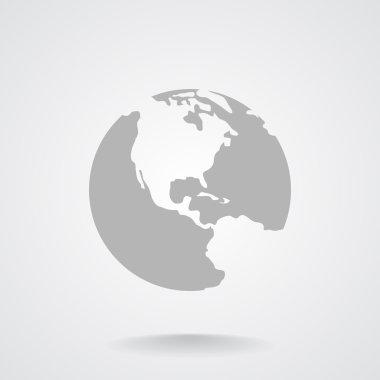 Planet earth web icon