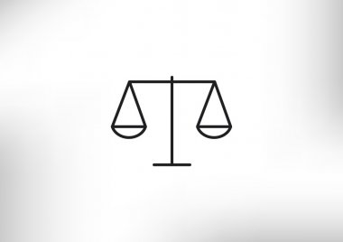 Scales of justice simple web icon