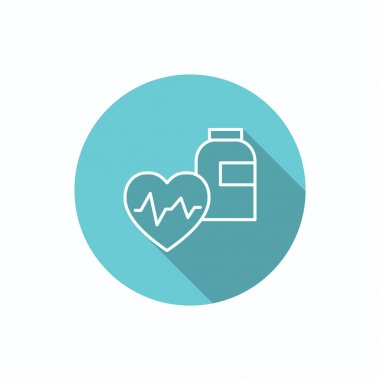 Cardiology medicine simple web icon