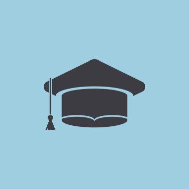 Academic hat simple web icon