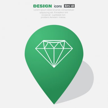 Diamond web icon, luxury concept