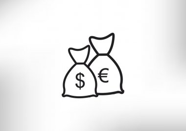Money bags with euro symbol