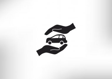 Car insurance web icon