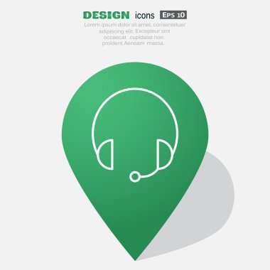 Earphones garniture web icon