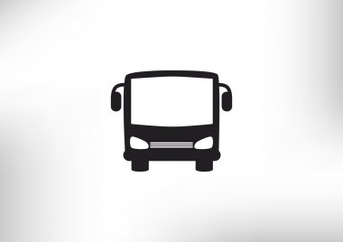 Simple bus front web icon