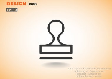 Seal stamper concept icon