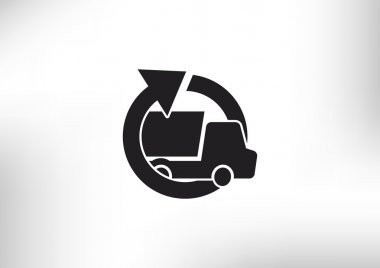 Simple truck with round arrow