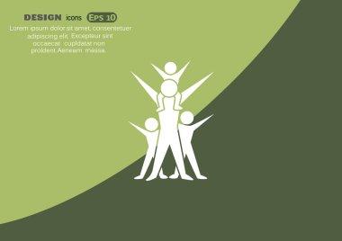 Happy family concept web icon