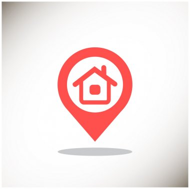 House location pointer simple icon